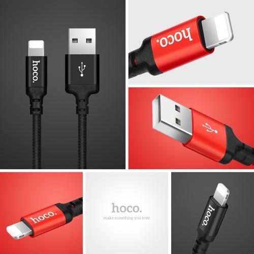 Линейка качественных USB кабелей для зарядки и синхронизации hoco premium X-14