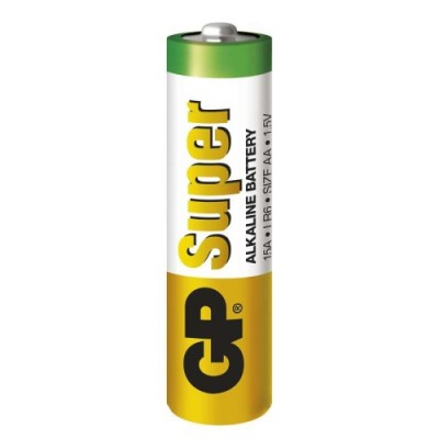 Батарейка щелочная AA (15G, R6P) GP Super Alkaline 1.5V