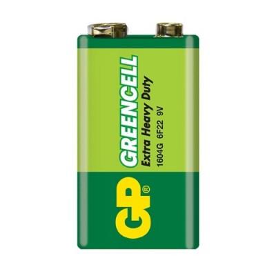 Батарейка солевая 6F22 (6LF22, 1604G) GP GREENCELL 9V
