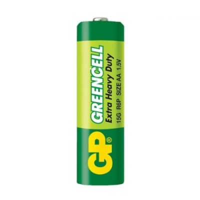 Батарейка солевая AA (15G, R6P) GP GREENCELL 1.5V
