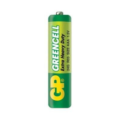 Батарейка солевая AAA (24G, LR03) GP GREENCELL 1.5V