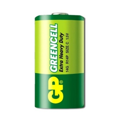Батарейка солевая C (14G, R14) GP GREENCELL 1.5V
