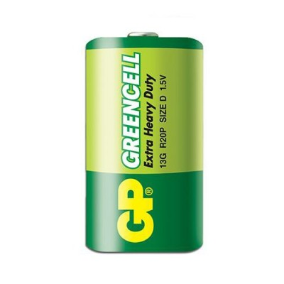 Батарейка солевая D (13A, LR20) GP GREENCELL 1.5V